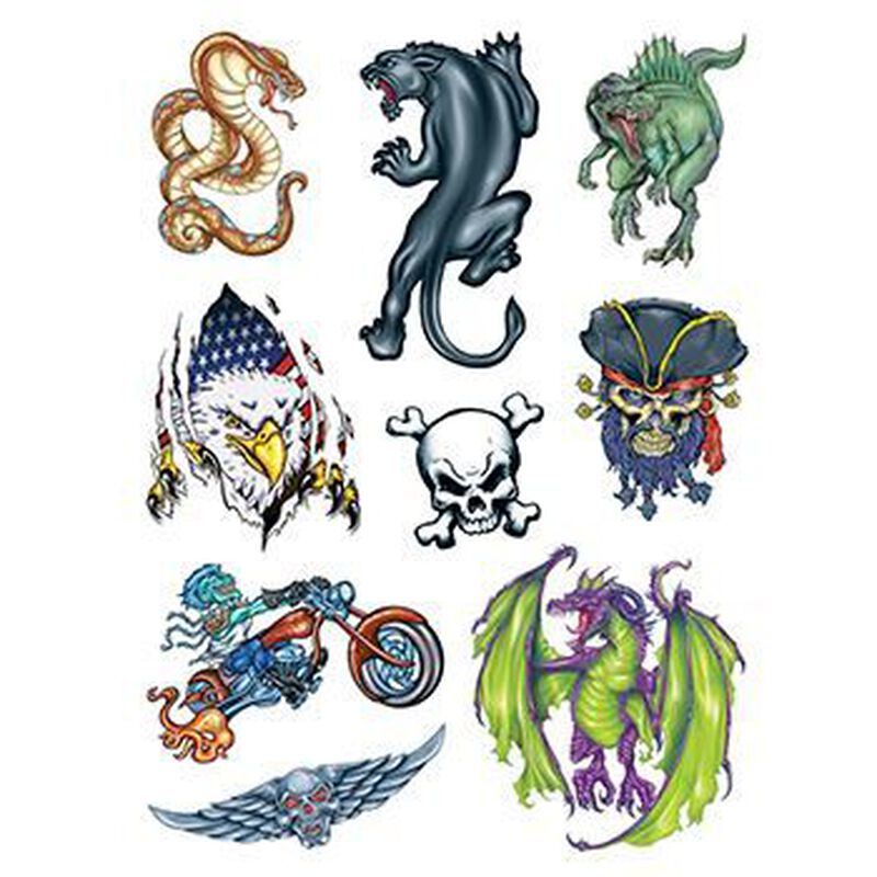 Boys World Set of Temporary Tattoos image number null