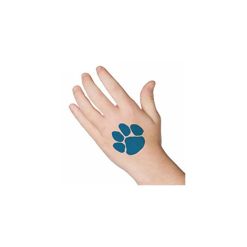 Blue Paw Print Temporary Tattoo image number null