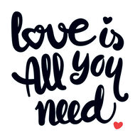 Love is All You Need Temporary Tattoo