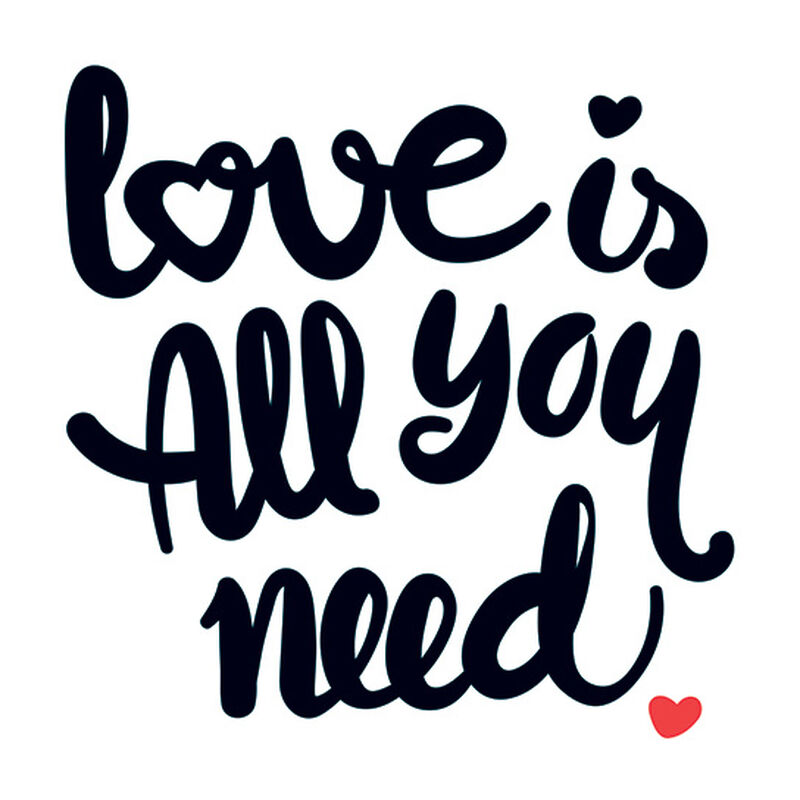 Love is All You Need Temporary Tattoo image number null