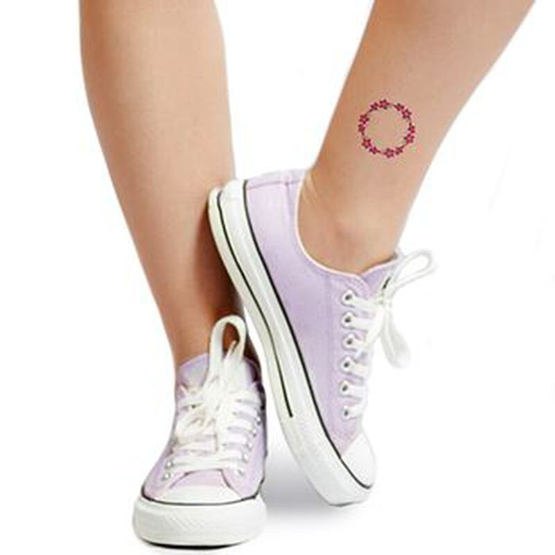 Flower Ring Temporary Tattoo image number null