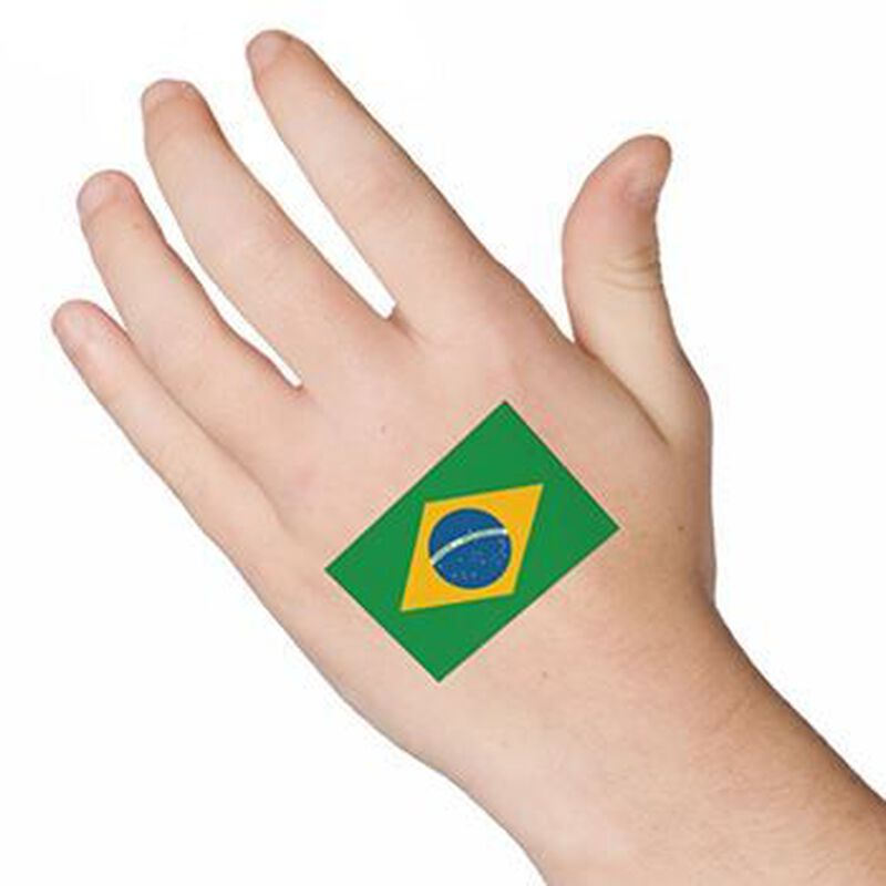 Brazil Flag Temporary Tattoo image number null