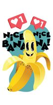Jammin Banana Temporary Tattoo