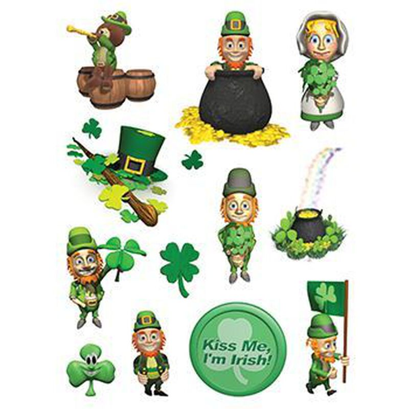 St. Patrick's Day Sheet of Temporary Tattoos image number null