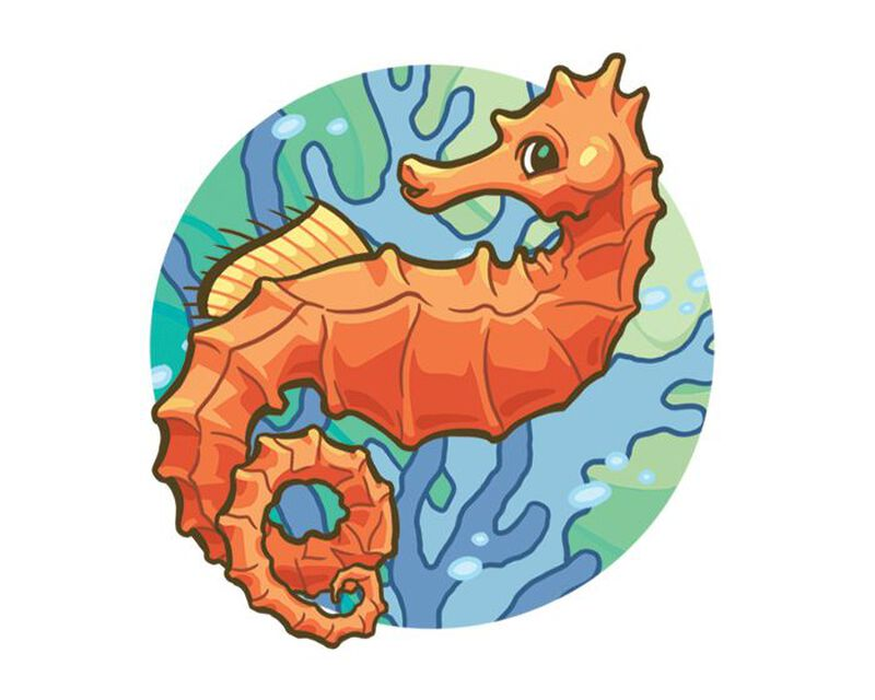 Sassy Seahorse Temporary Tattoo image number null
