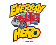 Everyday Hero Tonka Badge Temporary Tattoo