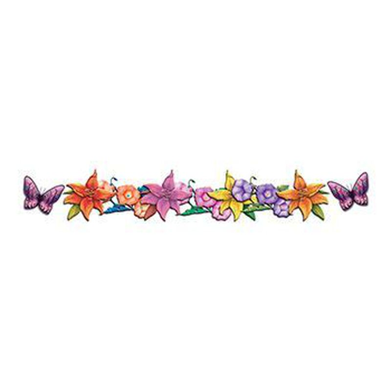 Butterflies and Flowers Band Temporary Tattoo image number null