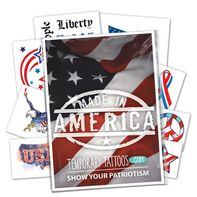 Patriotic Pack of Temporary Tattoos