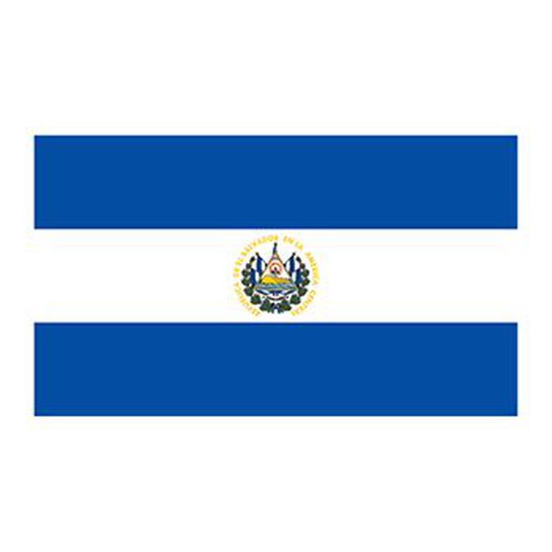 Flag of El Salvador Temporary Tattoo image number null