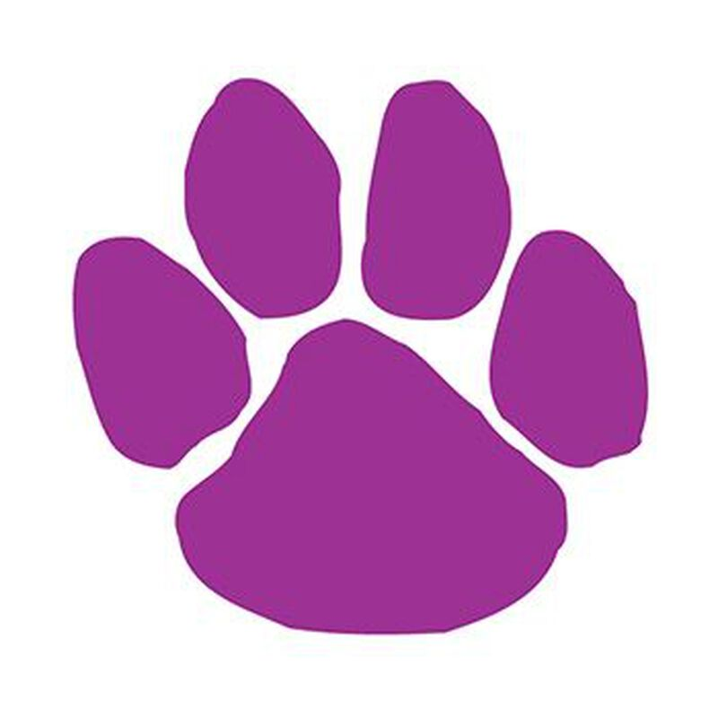 Purple Paw Print Temporary Tattoo image number null