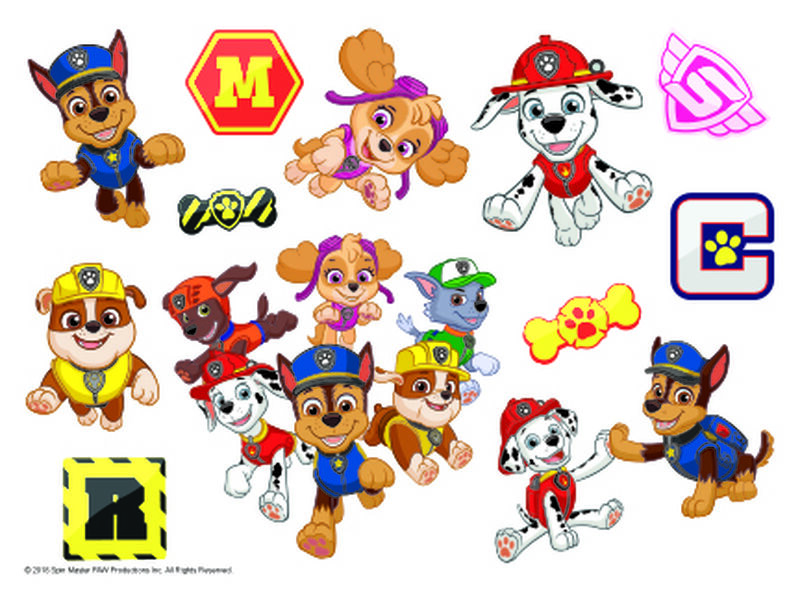 PAW Patrol Temporary Tattoo Sheet image number null