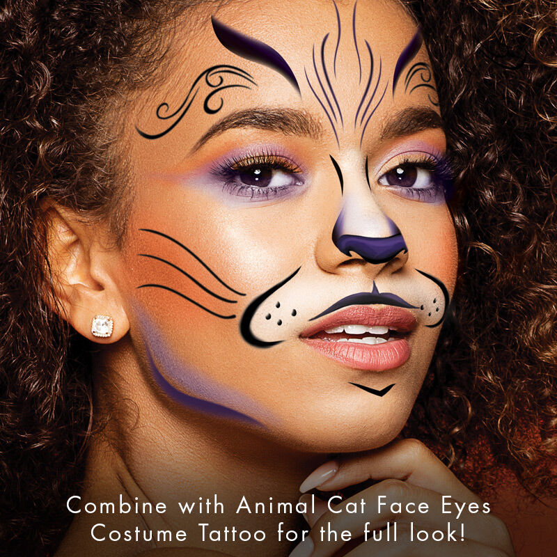 Animal Cat Face Eyes Costume Tattoo image number null