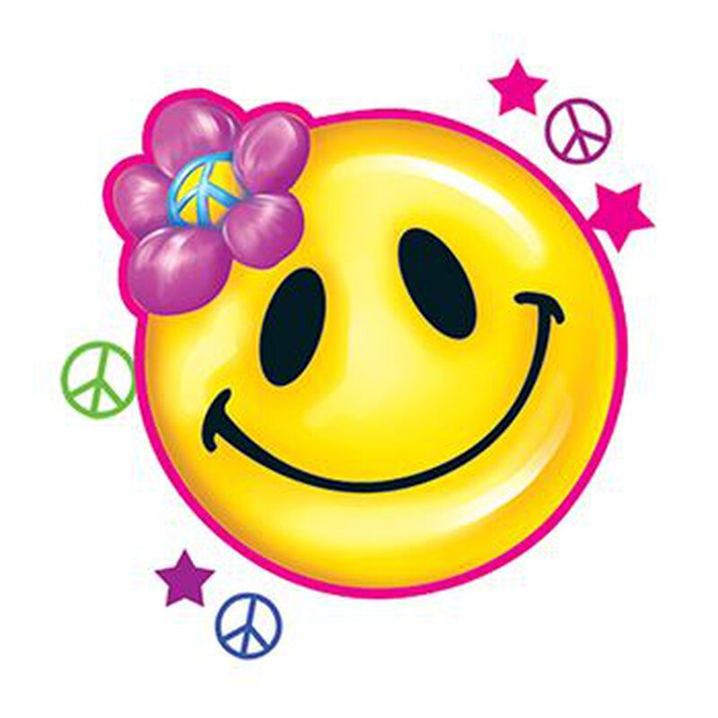Peace Smiley Face Temporary Tattoo image number null