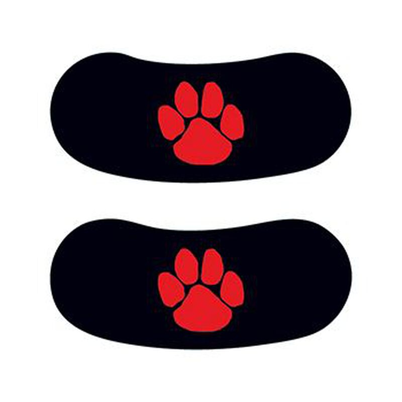 Red Paw Eye Black Temporary Tattoo image number null