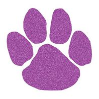 Glitter Purple Paw Print Temporary Tattoo