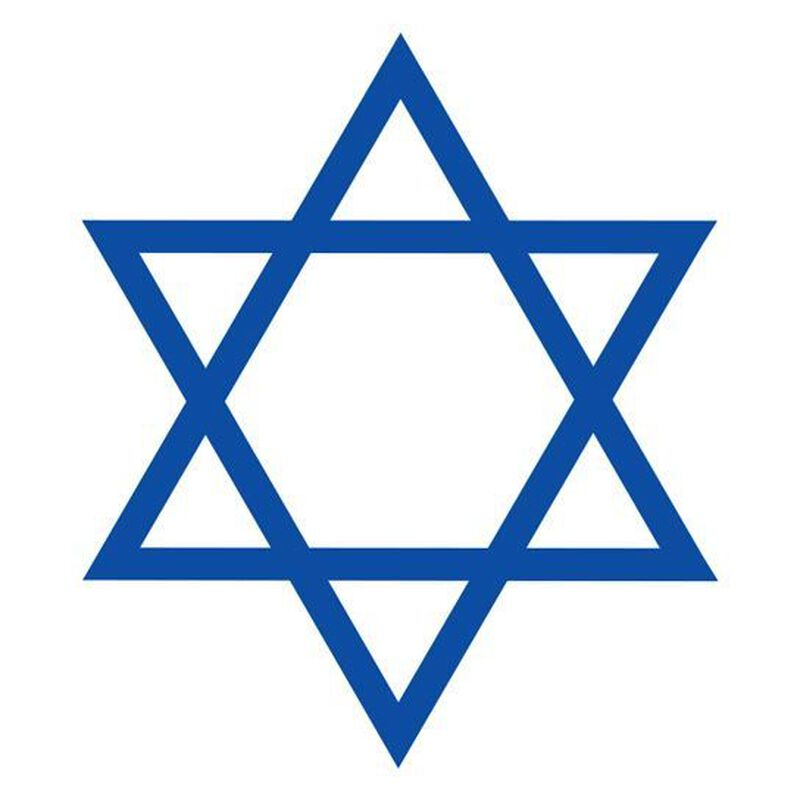 Star of David Temporary Tattoo image number null