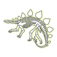 Glow Stegosaurus Temporary Tattoo
