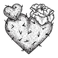 Cactus Heart Temporary Tattoo
