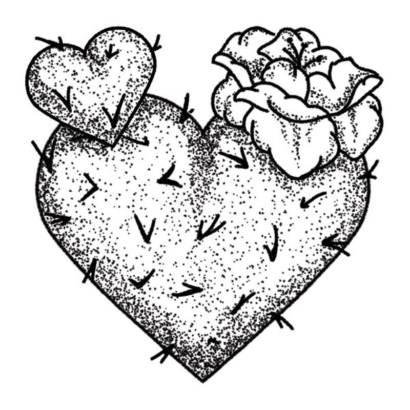 Cactus Heart Temporary Tattoo image number null