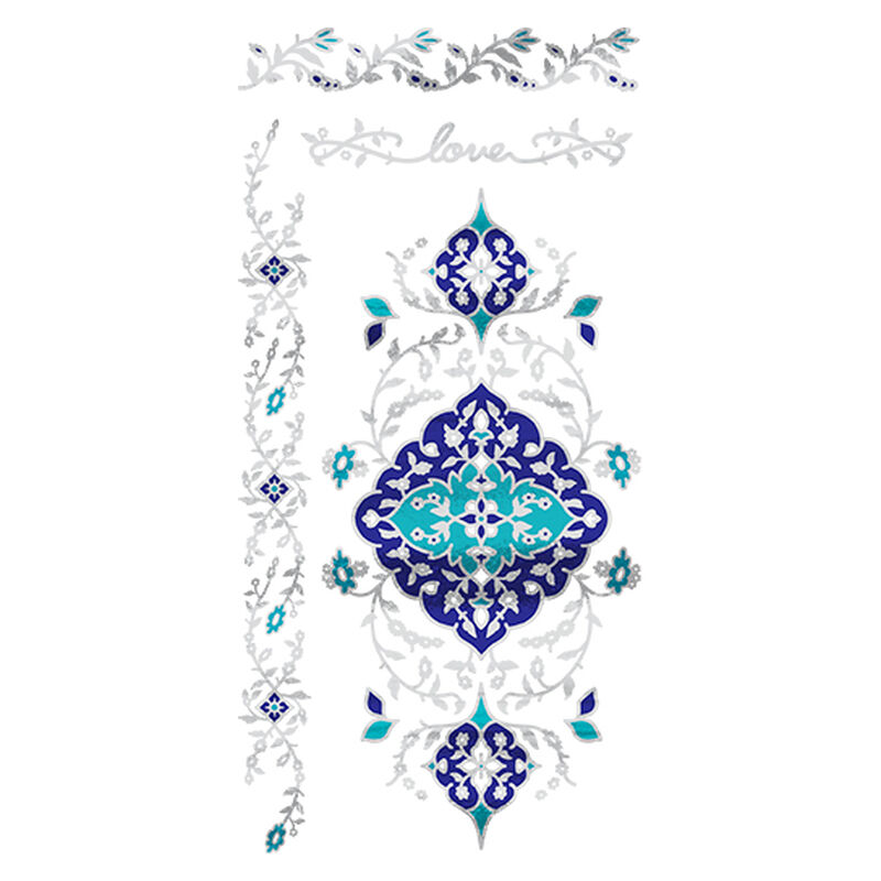 Metallic Teal Temptation Collection Temporary Tattoo image number null