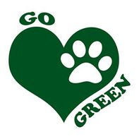 Go Green Paw Temporary Tattoo