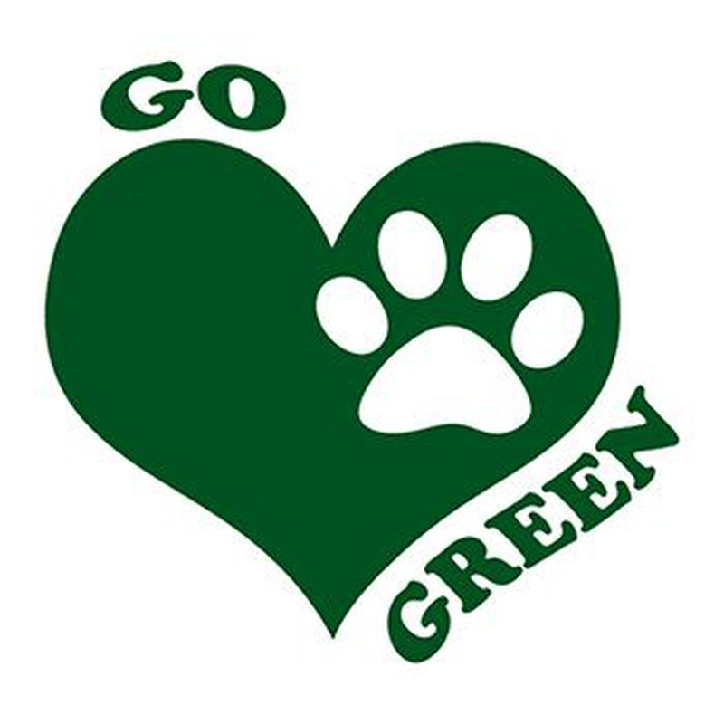 Go Green Paw Temporary Tattoo image number null