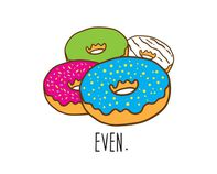 Donut Even Temporary Tattoo