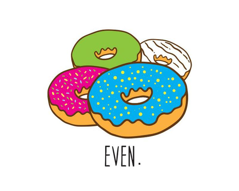 Donut Even Temporary Tattoo image number null