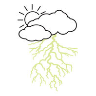 Cloud with Reveal Glow-in-the-Dark Lightning Bolt Temporary Tattoo