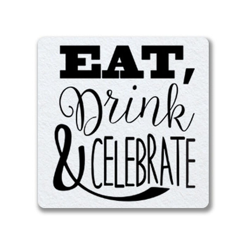 Eat, Drink, Celebrate Coaster Gift Box image number null