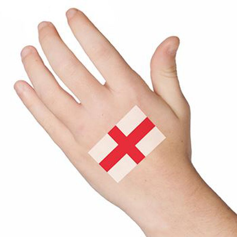 England Temporary Tattoo image number null