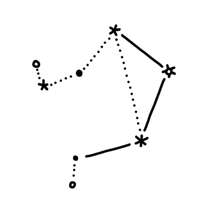 Libra Constellation Temporary Tattoo image number null