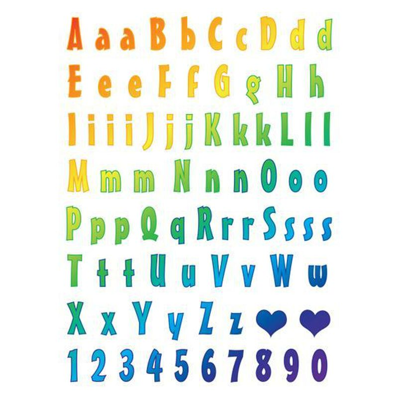 Rainbow Letter Temporary Tattoos image number null