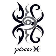 Zodiac: Pisces Design Temporary Tattoo