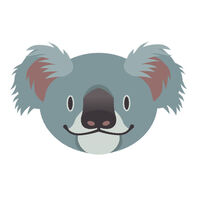Happy Koala Temporary Tattoo