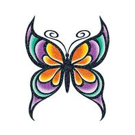 Glitter Colorful Butterfly Temporary Tattoo