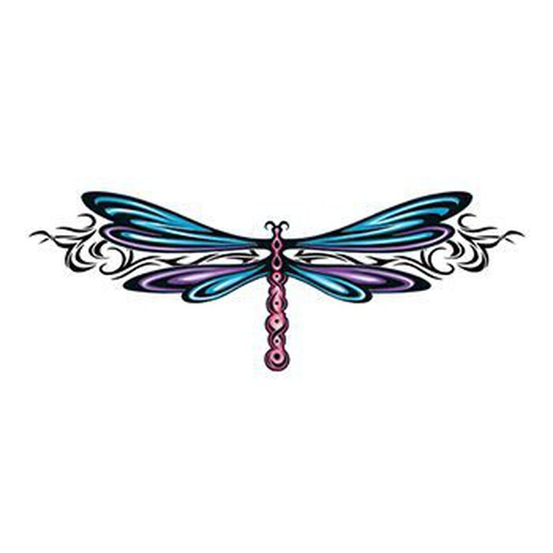 Stylish Dragonfly Temporary Tattoo image number null