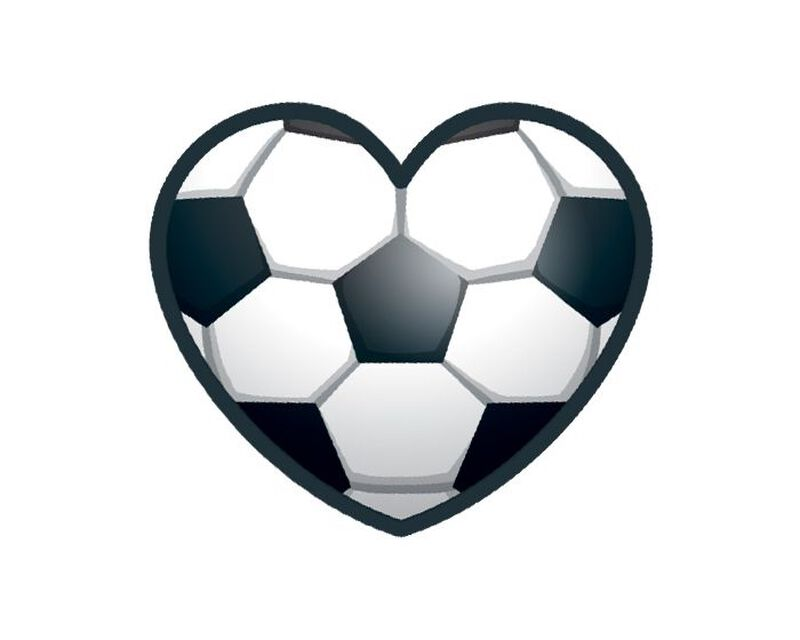 Soccer Heart Temporary Tattoo image number null
