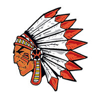 Red Thomahawk Temporary Tattoo