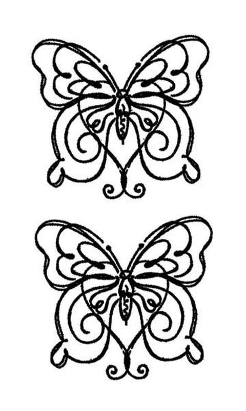 Simple Butterflies Temporary Tattoos image number null