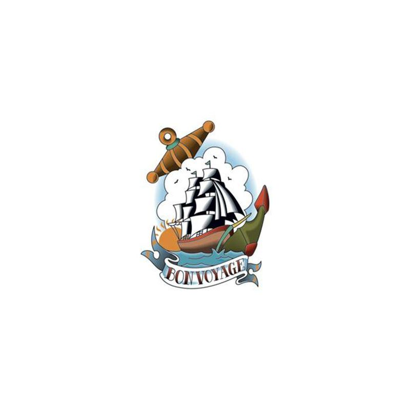 Vintage Ship Temporary Tattoo image number null