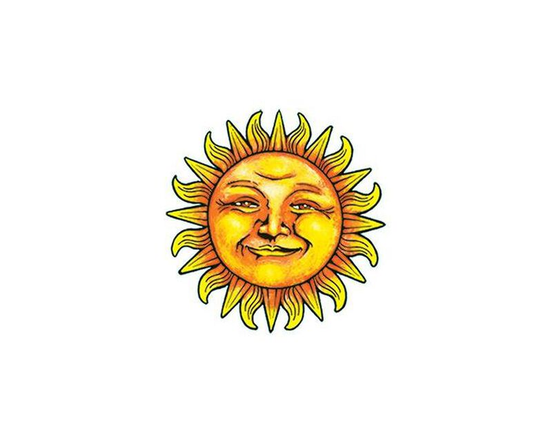 Smiling Sun Temporary Tattoo image number null