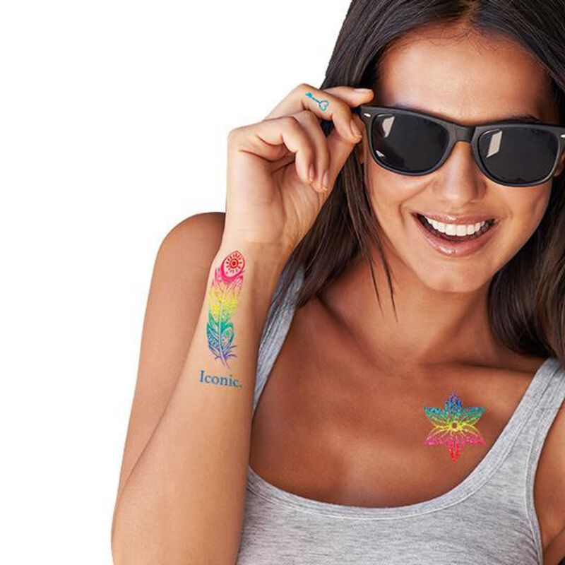 Iconic Colorful Metallic Jewelry Temporary Tattoo Set image number null
