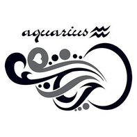 Zodiac: Aquarius Design Temporary Tattoo
