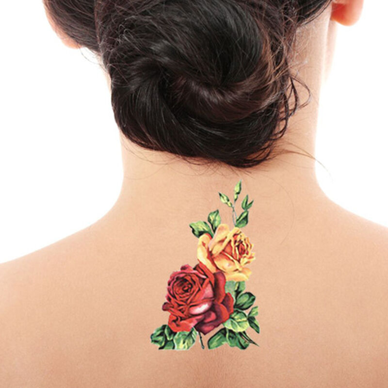 Roses Floral Temporary Tattoo image number null