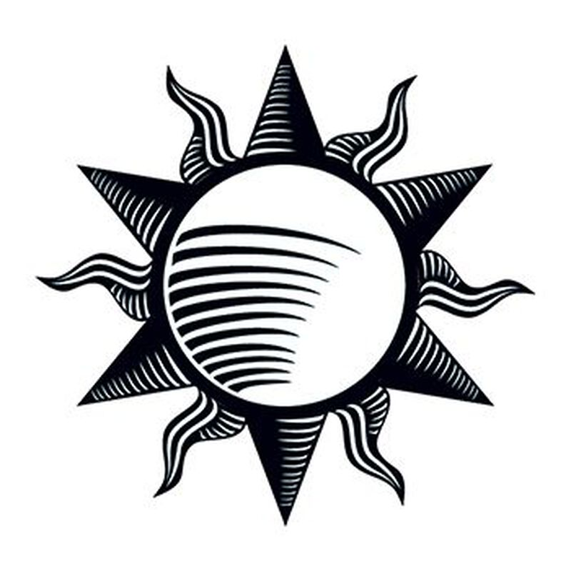 Tribal Sun Temporary Tattoo image number null