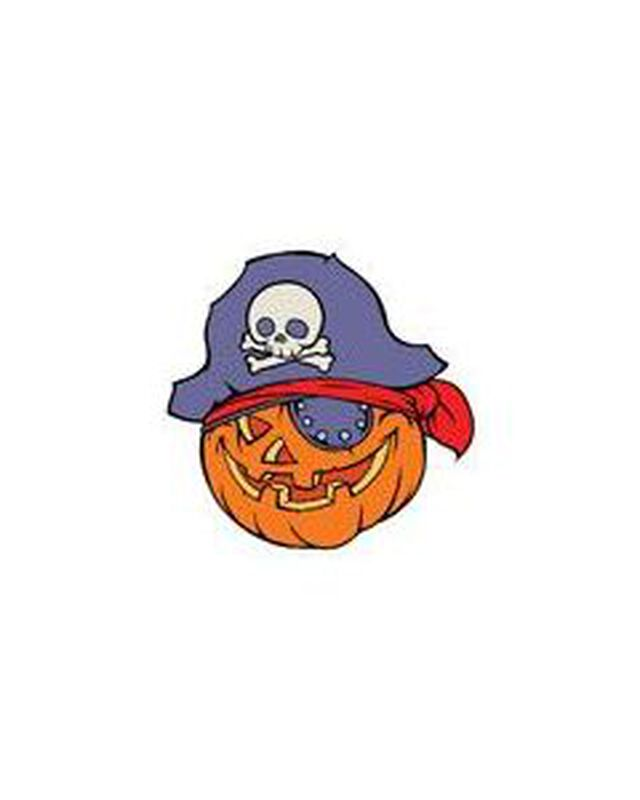 Pumpkin Pirate Temporary Tattoo image number null