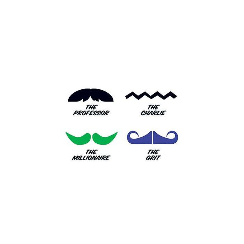 Fingerstaches: The Professor Temporary Tattoo Set image number null