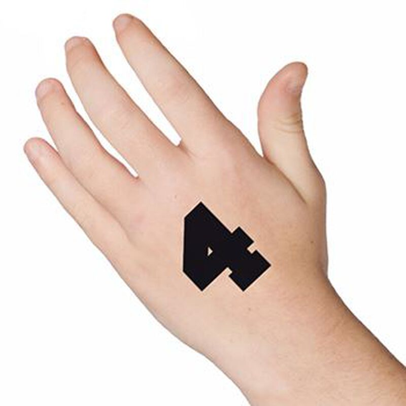 Number 4 Temporary Tattoo image number null