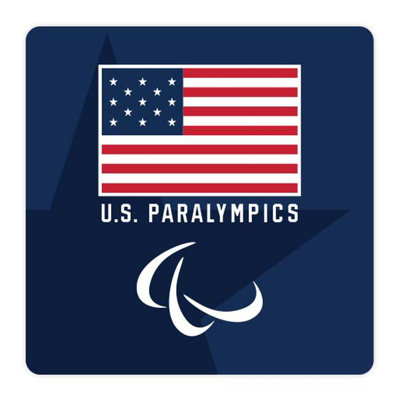 team usa paralympics flag and logo sticker image number null